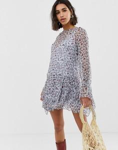 Платье мини с длинными рукавами Stevie May - Мульти