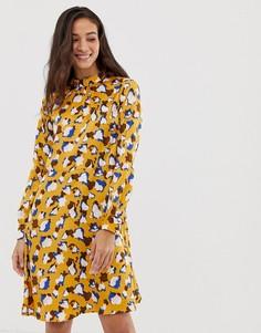Платье миди с принтом Vila - Золотой