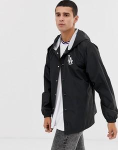 Черная спортивная куртка с капюшоном и вышитым логотипом New Era MLB LA Dodgers - Черный