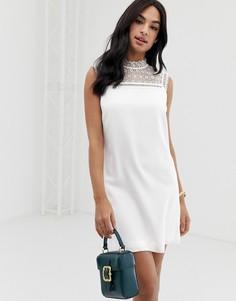 Платье-туника с кружевной кокеткой Ted Baker Carsey - Белый