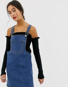 4d1911ec8f9 Джинсовое платье-комбинезон мини Only - Темно-синий джинсовые