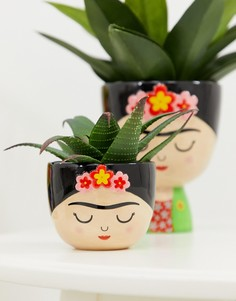 Небольшой горшок для растений с изображением Фриды Кало Sass & Belle - Мульти