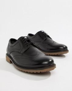 Черные броги со шнуровкой Silver Street - Черный