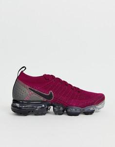 Малиновые кроссовки Nike Running Vapormax flyknit - Фиолетовый
