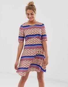 Платье с геометрическим принтом Yumi - Мульти