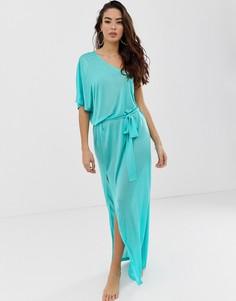 Пляжное платье макси на одно плечо ASOS DESIGN - Синий