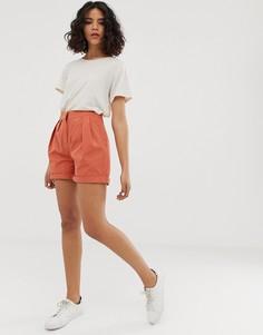 Свободные шорты с завышенной талией Native Youth - Оранжевый