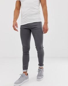Серые супероблегающие джинсы Armani Exchange J33 - Серый