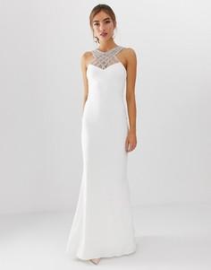 Платье макси с вышивкой City Goddess Вridal - Белый