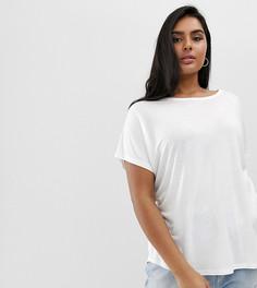 Белая футболка с широкими рукавами ASOS DESIGN Curve - Белый