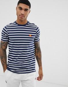 Темно-синяя футболка в полоску с логотипом ellesse Sailo - Темно-синий