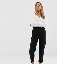 Суженные книзу брюки с завышенной талией Vero Moda Petite - Черный