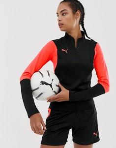 Куртка в стиле колор блок с короткой молнией Puma Football - Черный