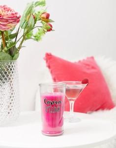 Свеча с ароматом коктейля космо Candlelight - Розовый