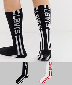 Набор из 2 пар носков в винтажном стиле с логотипом Levis - Мульти