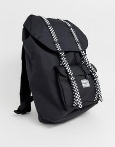 Черный рюкзак в шахматную клетку вместимостью 25 л Herschel Supply Co Little America - Черный