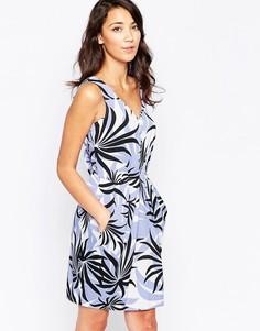 Платье с принтом пальм Closet - Синий