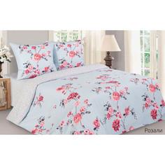 Комплект постельного белья Ecotex евро, поплин, Поэтика Розали (4650074958699)
