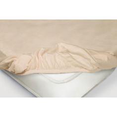 Простынь на резинке Ecotex 160x200, чайная роза (4650074959153)