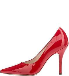 Красные лаковые туфли на шпильке Hogl