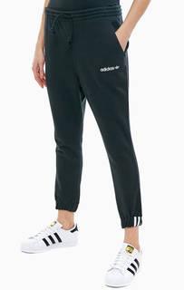 Хлопковые брюки джоггеры черного цвета Adidas