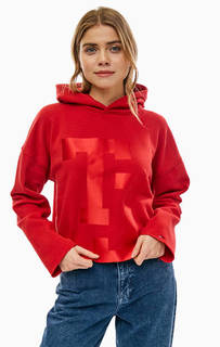 Красная толстовка с необработанным краем Tommy Jeans