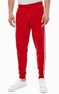 Красные брюки джоггеры из хлопка Adidas