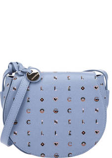 Кожаная сумка с откидным клапаном Clementine Logotype Print Coccinelle