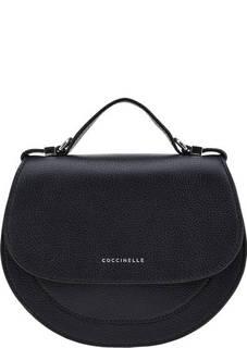 Синяя кожаная сумка через плечо Mini Bag Coccinelle