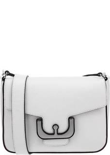 Белая кожаная сумка Ambrine Cross Coccinelle