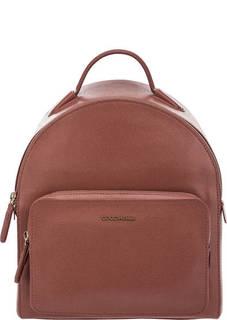Коричневый рюкзак из сафьяновой кожи Clementine Coccinelle