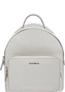 Белый рюкзак из сафьяновой кожи Clementine Coccinelle