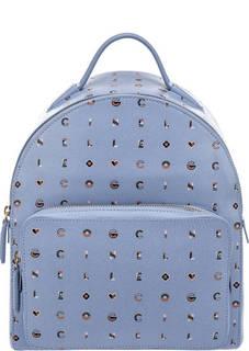 Рюкзак из сафьяновой кожи Clementine Logotype Print Coccinelle