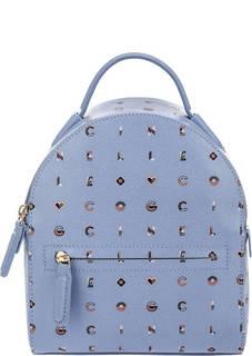 Маленький кожаный рюкзак Clementine Logotype Print Coccinelle