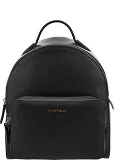 Кожаный рюкзак черного цвета Clementine Soft Coccinelle
