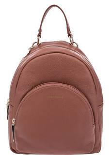 Коричневый рюкзак из зерненой кожи Alpha Coccinelle