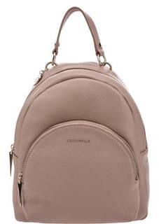 Бежевый рюкзак из зерненой кожи Alpha Coccinelle