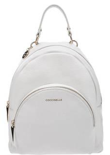 Белый рюкзак из зерненой кожи Alpha Coccinelle