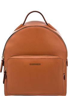 Кожаный рюкзак оранжевого цвета Clementine Soft Coccinelle