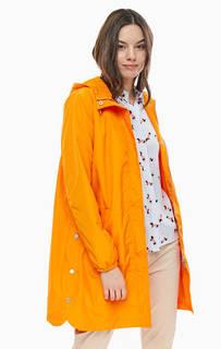 Плащ оранжевого цвета с капюшоном B.Young