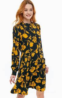 Короткое платье из вискозы с цветочным принтом Ichi