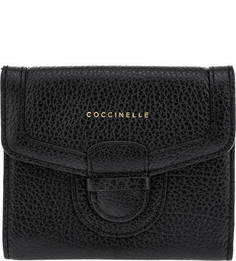 Кожаный кошелек на кнопке Vega Coccinelle