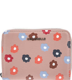 Кожаный кошелек с цветочным принтом Metallic Flower Print Coccinelle