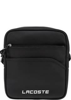 Черная сумка через плечо на молнии Lacoste