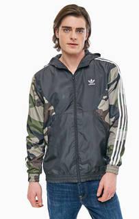 Ветровка с камуфляжными рукавами Adidas