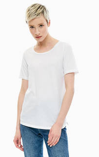 Однотонная хлопковая футболка с короткими рукавами Marc Opolo
