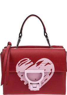 Кожаная сумка с принтом Arlettis San Valentino Coccinelle
