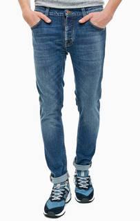 Зауженные синие джинсы с застежкой на болты Tilted Tor Nudie Jeans