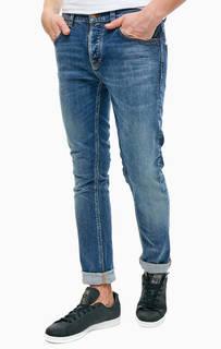 Синие джинсы зауженного кроя Grim Tim Nudie Jeans