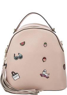 Кожаный рюкзак с декоративной отделкой Curanni